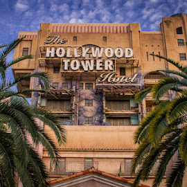 Hollywood Tower Hotel by Nicole Nichols - City,  Street & Park  Amusement Parks ( hollywood tower hotel, california adventure, hollywood, disneyland, hotel )