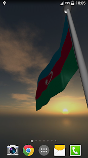 Azerbaijan Flag - LWP - screenshot