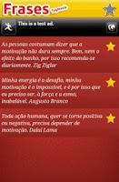 Screenshot of Frases motivacionais  VENÇA!!!