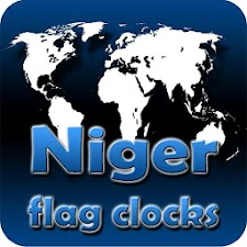 Niger flag clocks