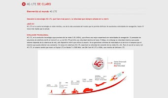Screenshot of Catálogo Digital Claro