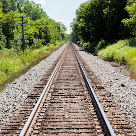 endless by Jason Woodrow - Transportation Railway Tracks ( paralell, wisconsin, railway, railroad, rail, train, tracks )