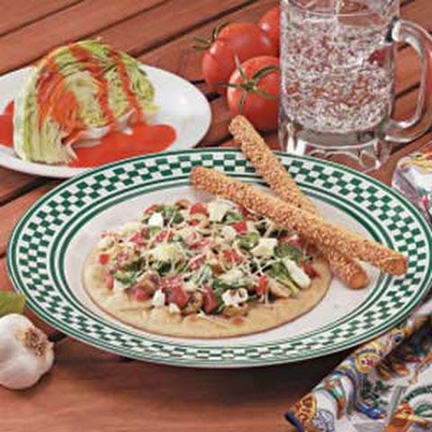 Greek Pita Pizza Spinach Recipes | Yummly
