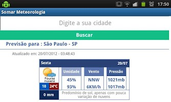 Screenshot of SOMAR Meteorologia