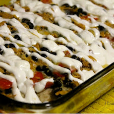 Lightened Up Chicken Enchilada Bake
