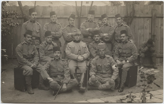 Austrian soldiers including some Muslim soldiers.