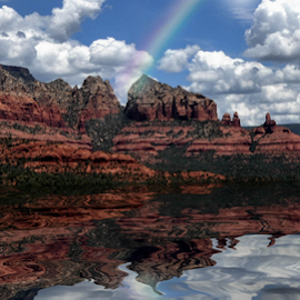 Happy Earth Day! by Yasmin Simpson - Landscapes Deserts ( mountains, nature, arizona, lakes, yasminsimpson, landscape, sedona, yasmin, earthday )