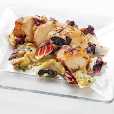 Braised Belgian Endive and Chicken Cutlets