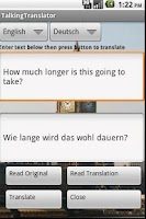 Screenshot of Talking Translator