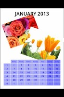 Screenshot of Printable wall calendar free