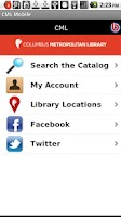 Screenshot of Columbus Library Mobile