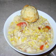 Creamy Chicken with Corn, Tarragon and Tomatoes