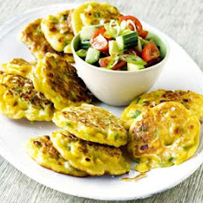 Sweetcorn Pancakes With Avocado Salad