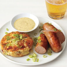Bratwurst With Potato Cakes