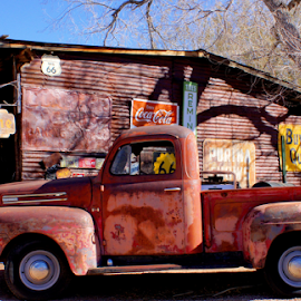 Orange Truck by Tina Hailey - Transportation Automobiles ( orange truck, az, vintage, route 66, tinas capture moments,  )