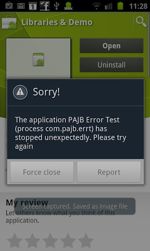 PAJB Error Test