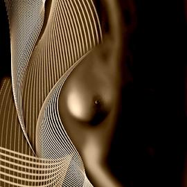 GOLDEN GIRL  by Carmen Velcic - Digital Art People ( abstract, body, nude, girl, woman, she, lady, digital )