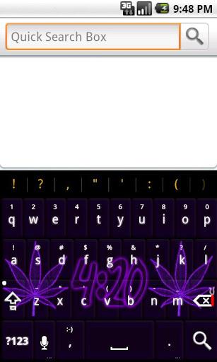 Pot Leaf 420 Purple Keyboard