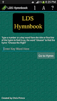 Screenshot of LDS Hymnbook