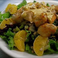 Chicken, Tangerine, Apple and Celery Salad With Yoghurt Dressing