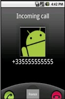 Screenshot of Incoming Number Info