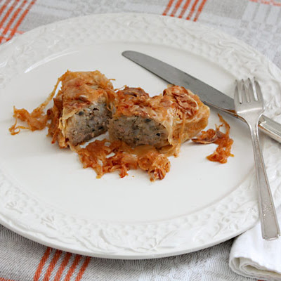 Pork-and-Rice-Stuffed Cabbage Rolls