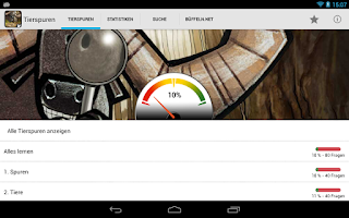 Screenshot of Tierspuren und Fährten