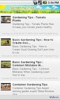 Screenshot of Gardening Tips