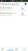 Screenshot of Goals Calendar
