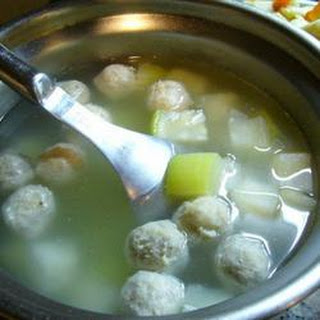 Winter Melon Meatball Soup