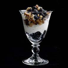 Greek Yogurt, Chocolate, Walnut, and Wild Blueberry Parfaits