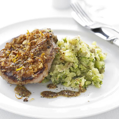 Honey Mustard Lamb With Crushed Potatoes