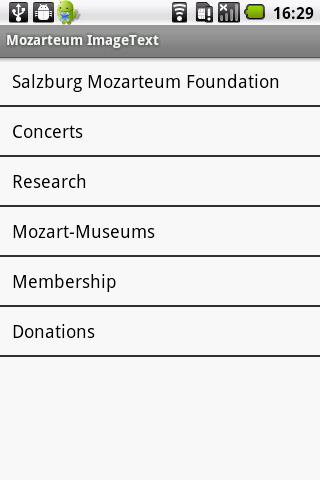 Mozarteum InfoGuide