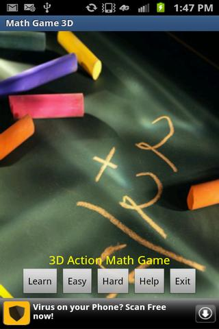 Math Game - 3D Action Game