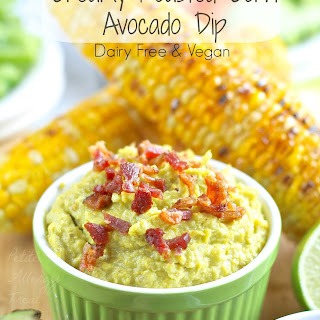 Creamy Roasted Corn Avocado Dip (Dairy Free)