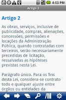 Screenshot of Brasilian Law of Tenders