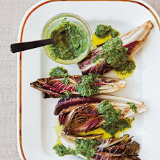 Pan-Grilled Radicchio with Salsa Verde
