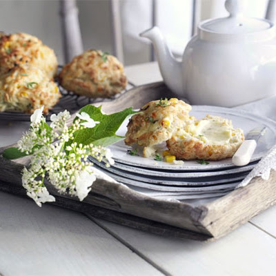 Cheddar & Sweetcorn Scones