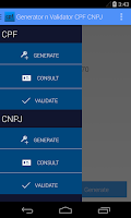Screenshot of Generator n Validator CPF CNPJ