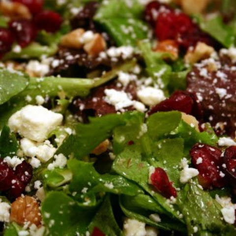 Mixed Greens with Feta and Dried Cranberries