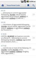 Screenshot of Texas Penal Code
