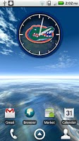 Screenshot of Florida Gators Clock Widget