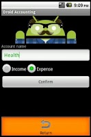 Screenshot of Droid Accounting