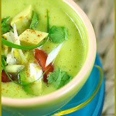 Cold Avocado, Orange and Lime Soup