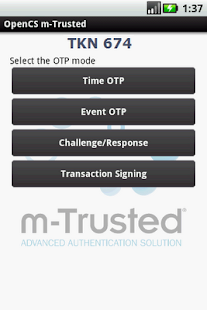 m-Trusted - screenshot