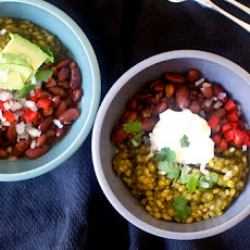 Red Bean And Green Grain Taco Bowl