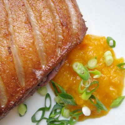 Sunday Supper: Seared Duck Breast and Apricot Compote