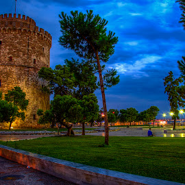 Park of White Tower by Sergios Georgakopoulos - City,  Street & Park  City Parks ( park, thessaloniki, greece )