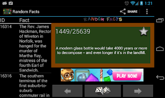 Screenshot of Random Facts 25,000+