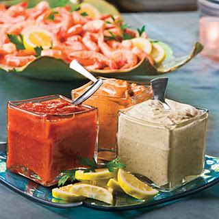 Peel-and-Eat Shrimp With Dipping Sauces